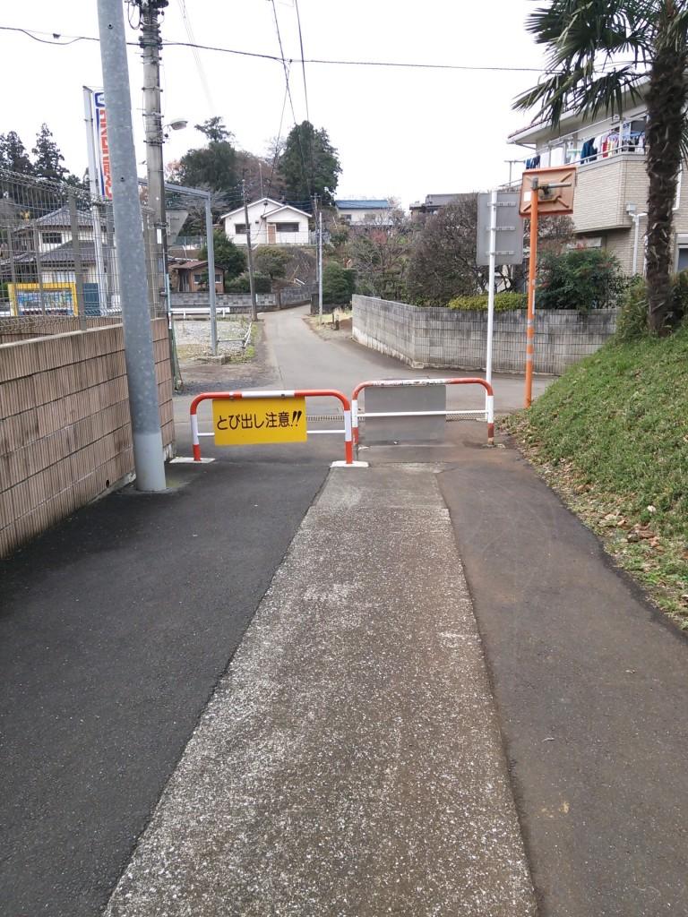 山道を抜けたら、真っすぐ道なりに進みます。カーブの坂道が終わったら左手に神社があるのでそこを右に曲がってずっと真っすぐ進むと大日堂にたどり着きます。