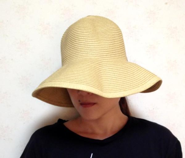 折り畳み麦わら帽子 ママ帽子-6