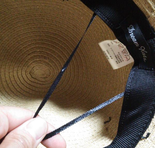 折り畳み麦わら帽子 ママ帽子-5