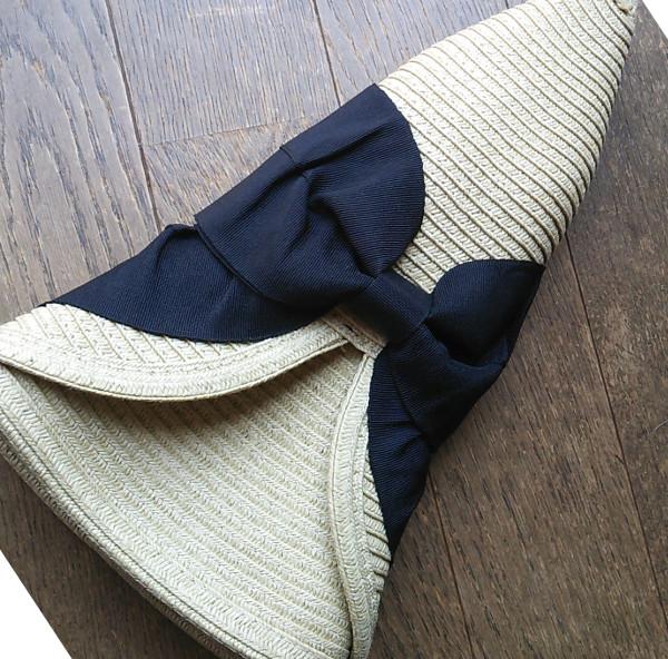 折り畳み麦わら帽子 ママ帽子-3