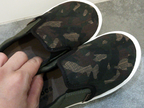 citilane novelty slip-on sneaker kids camo
