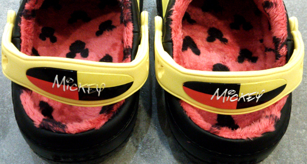 creative clog Mickey lined clog kids black