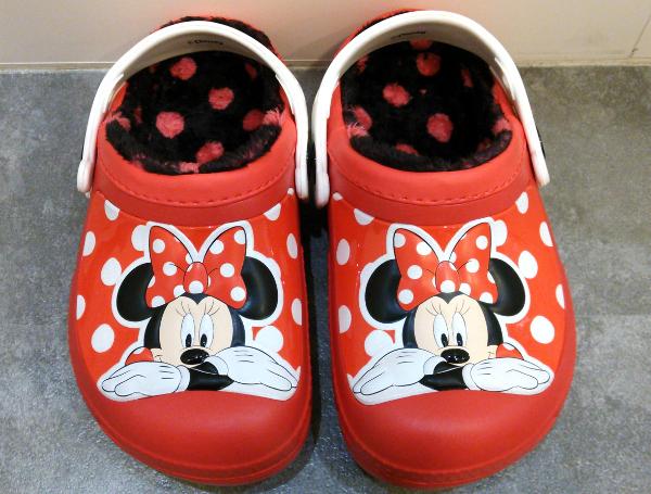 creative clog Mickey lined clog kids pepper