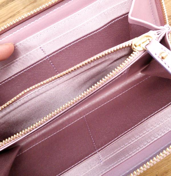 サクラ・ロンングウォレット(LA FLORAISON-ラ・フロレゾン-)スウェード本革長財布